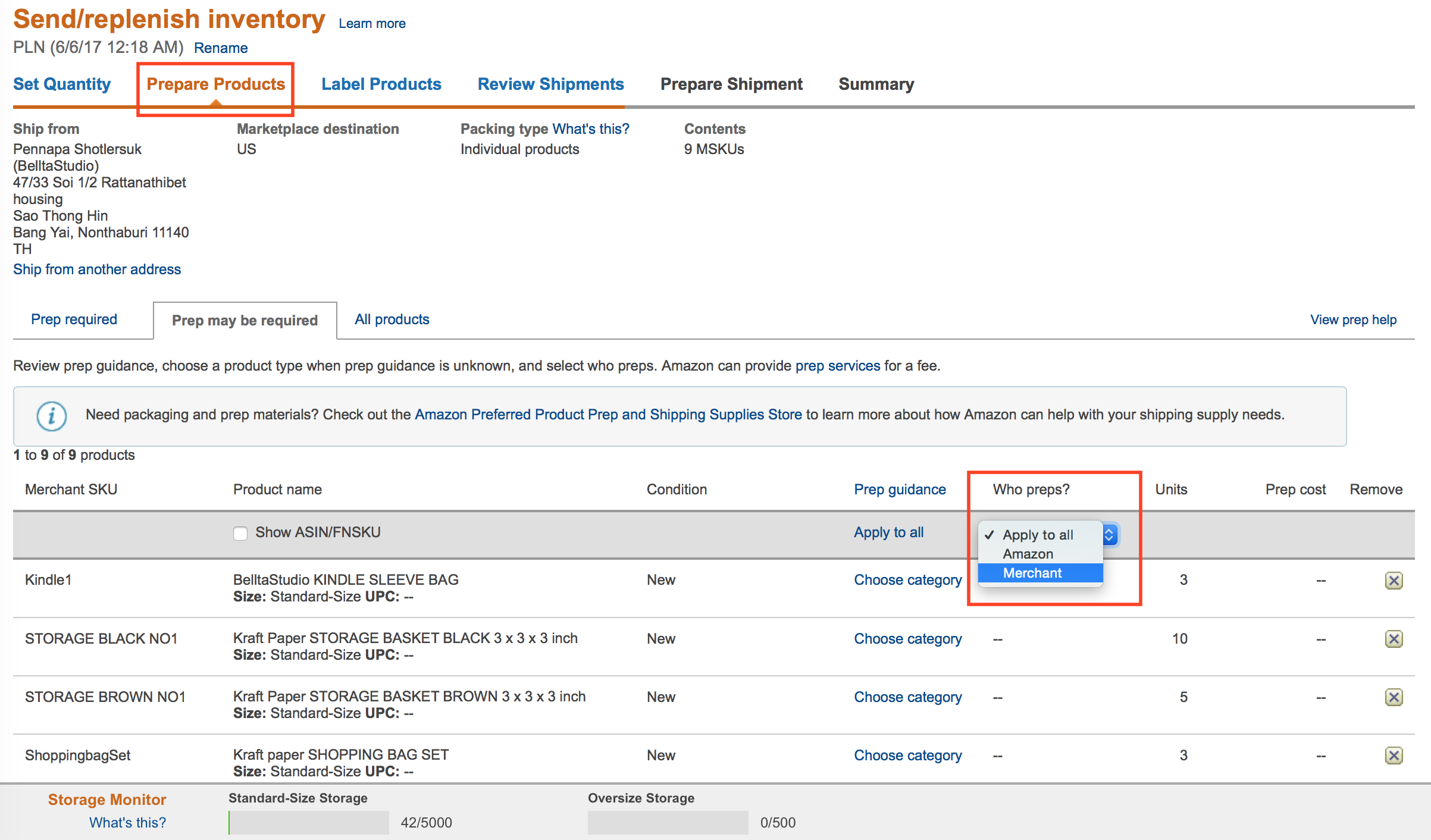 how to send products to amazon fba
